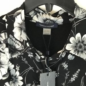 TOMMY HILFIGER Floral black + white blouse (#32)